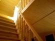 Лестница в деревянной бане