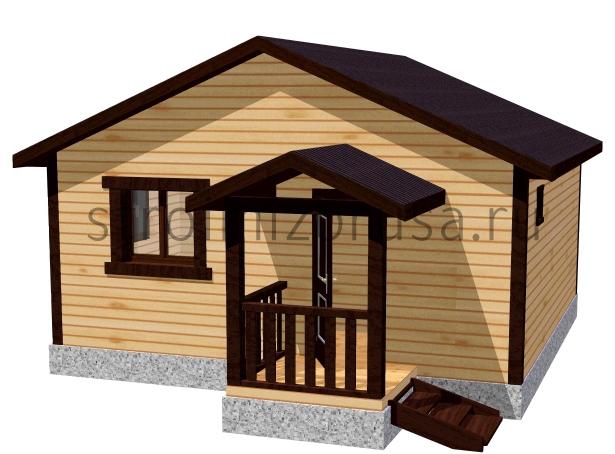 Одноэтажные дома из клееного бруса