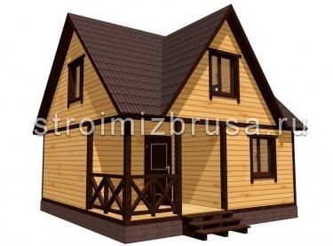 Дом из бруса 3D