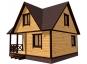 Дом из бруса с мансардой 3D